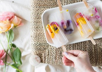 edible flowers popsicle