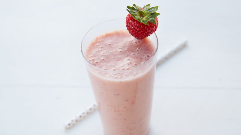 delicious strawberry smoothie to drink